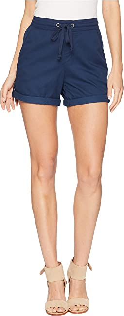 Love At Two Non-Denim Elastic Waist Shorts