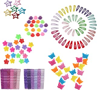 Butterfly Hair Clips 164pcs with Bobby Pins Decorative and Mini Hair Claw Clip Hair Bangs Barrettes for Baby Girls Toddler...