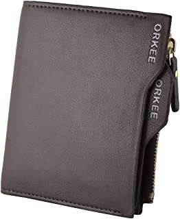 Orkee Hot Selling Brown Bifold Zipper Wallet (Brown)