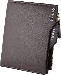 Orkee Hot Selling Brown Bifold Zipper Wallet