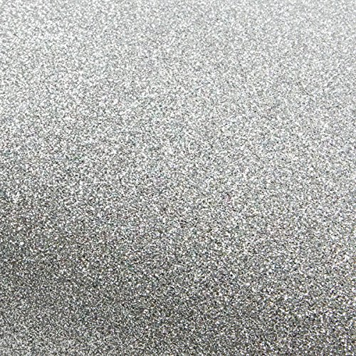 ROSEROSA Peel & Stick Glitter Sand Crafting Tape Self-Adhesive Covering Countertop Border Sticker (Silver : 3 inch X 5 Yard)