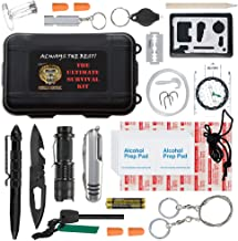 Ultimate 43-in-1 Emergency Survival Kit | Outdoor Multi-Tools for Camping, Hiking, Hunting & Fishing | First Aid Supplies | All Inclusive Survival Gear with Box for Campers & Preppers
