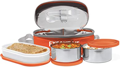 Milton Executive Lunch Insulated Tiffin with 3 Leakproof Containers, Orange