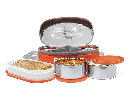 Milton Executive Lunch Box Set of 3, Orange