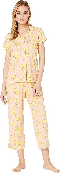 Lemon Capris Pajama Set