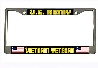 U.S. ARMY VIETNAM VETERAN Chrome Auto License Plate Frame Tag