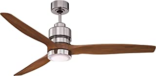 Craftmade K11068 Sonnet Ceiling Fan with Sonnet Walnut Blades and LED Light Kit, 60