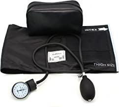 LotFancy Aneroid Sphygmomanometer, Professional Manual Blood Pressure Cuff, Blood Pressure Monitor with Zipper Case, Thigh Size Cuff (16-26