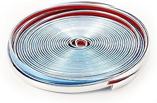 Silber Innenformungs Zier Streife und Schaber HONMIED 10M Auto Zierleiste Chrom Zierleisten Trim flexiblem Dekorative Strip