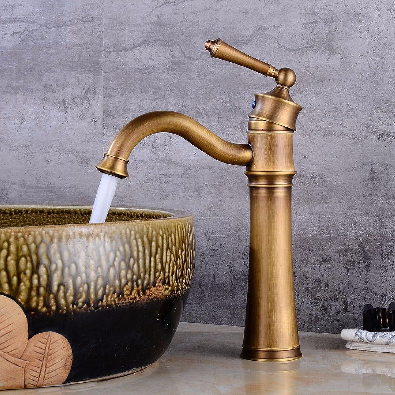 Bijjaladeva Wasserhahn Bad Wasserfall Mischbatterie Waschbecken WaschtischAntike Becken Drehen Sie Das Kalte Wasser Keramik Ventil Einloch Single Bad Waschtisch Armatur mit Griff