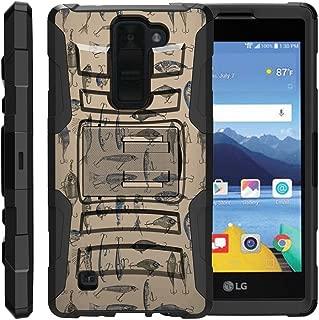 TurtleArmor | Compatible with LG K8V Case | LG K8 V Case | VS500 [Hyper Shock] Armor Rugged Hybrid Cover Kickstand Impact Carry Holster Belt Clip Sports and Games - Fishing Hooks