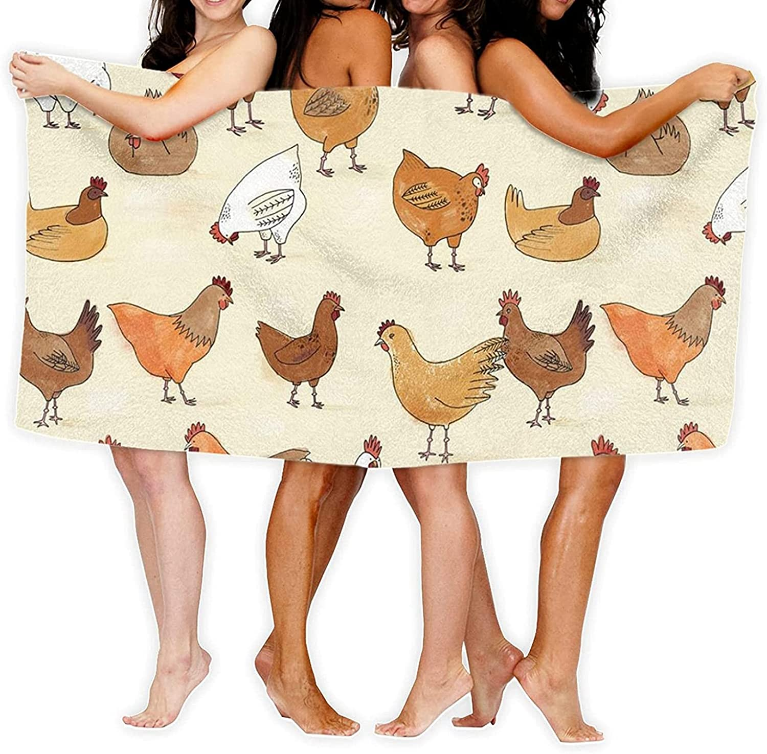 Epushow Chicken Pattern Don't miss the campaign Printed Beach Qui Super Max 82% OFF Towel Absorbent