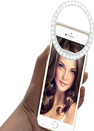 Hemiza Portable Selfie Beauty LED Ring Light for Smartphones Tablets iPhone Android & iPad