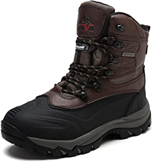 arctiv8 Mens Insulated Waterproof Construction Rubber Sole Winter Snow Skii Boots