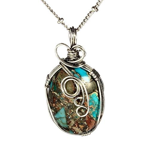 Unique Natural Stone Necklaces Amazon Com