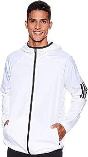 adidas Men's M Wind Fz Jkt Jacket, White, Medium