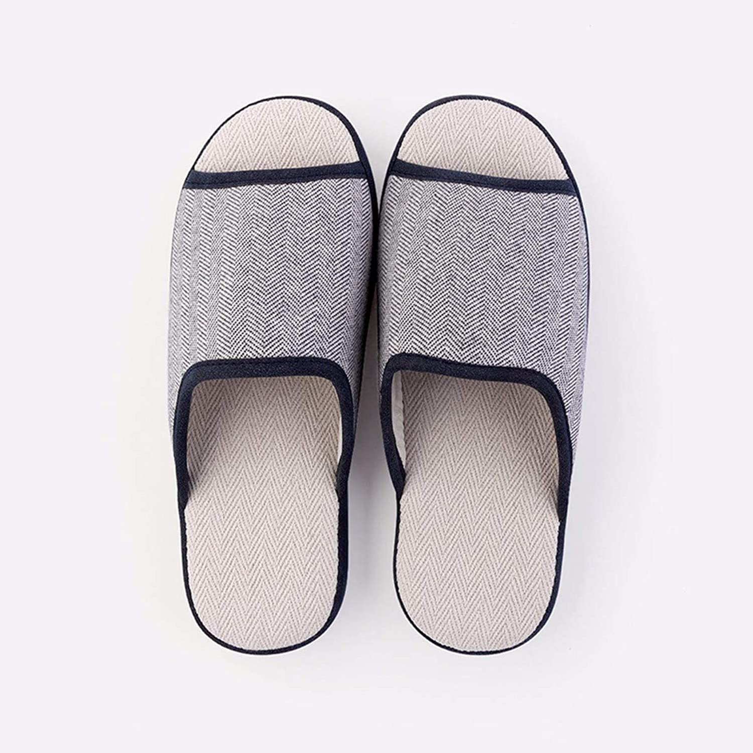 QPGGP-Slippers in The Spring and Autumn, Indoor Couples, Cotton Slippers, Female Slippers, Wear Resistant, Thick Sole, Cotton and Hemp Slippers, Men's Style.
