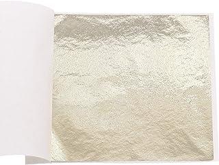 VGSEBA Imitation Gold Foil Sheets-100 Pieces Metal Leaf Papers for Gilding Crafts, Furniture Decorations, Arts Project, 3....