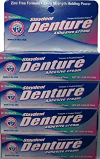 Staydent Denture Adhesive Cream, Dr. Sheffield's, 0.85 Oz. (Pack of 4) by Sheffield Pharmaceuticals