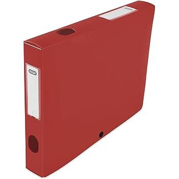 Elba 400094584 caja de índice con lomo 80 mm polipropileno opaco (24 x 32 cm), color verde: Amazon.es: Oficina y papelería