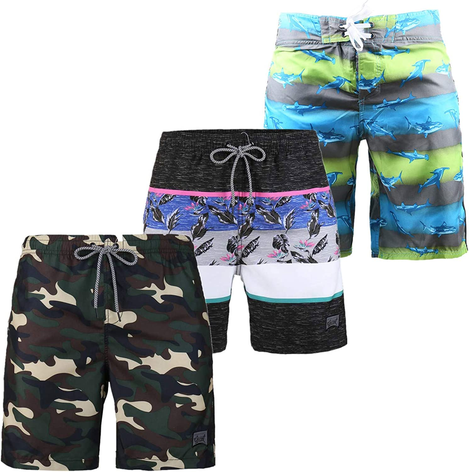 IvanTom 3 Pack Men's Swim Trunk Casu Lined Mesh Beach Wrestling Same day shipping At the price of surprise