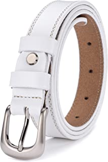 Ayli Women's Jean Belt, Classic Buckle Handcrafted Genuine Leather Belt