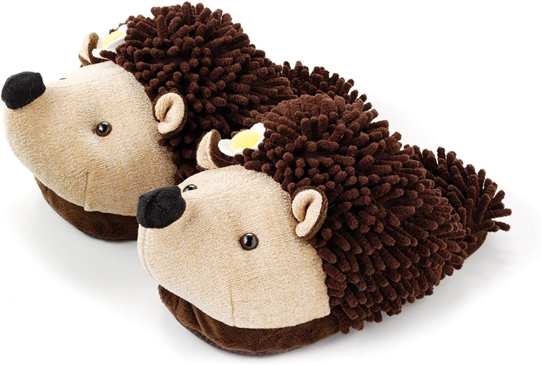 Aromahome Aroma Home Animal Fuzzy Friends Warm Womens Slippers Hedgehog