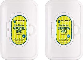 Earthbath Hypo-Allergenic Grooming Wipes - Fragrance Free Aloe Vera, Vitamin E, Gentle on Sensitive Skin, Good for Dogs & ...