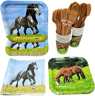 Horse Party Supplies Pack (113+ Pieces for 16 Guests!), Horse Party, Horse Tableware