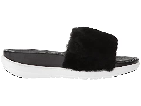 ShearlingDark Pink Sandals Black DenimDusky FitFlop Shearling Luxe Blue Slide Loosh ItPn8xX