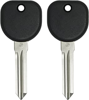 Keyless2Go New Uncut Replacement Transponder Ignition Car Key Circle Plus B111 (2 Pack)