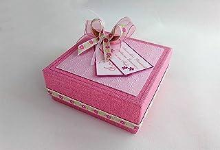 SANDIN 100 pcs Mini Schnuller Baby Dusche Bevorzugungs Partei Dekorationen Taufe Transparente Blau and rosa