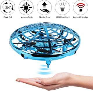 KETEP 2019 Upgrade Flying Toys Drones for Kids, Mini Drone Helicopter, Infrared Sensor Auto with 360° Rotating Hand Controlled Drone Toys for Boys or Girls