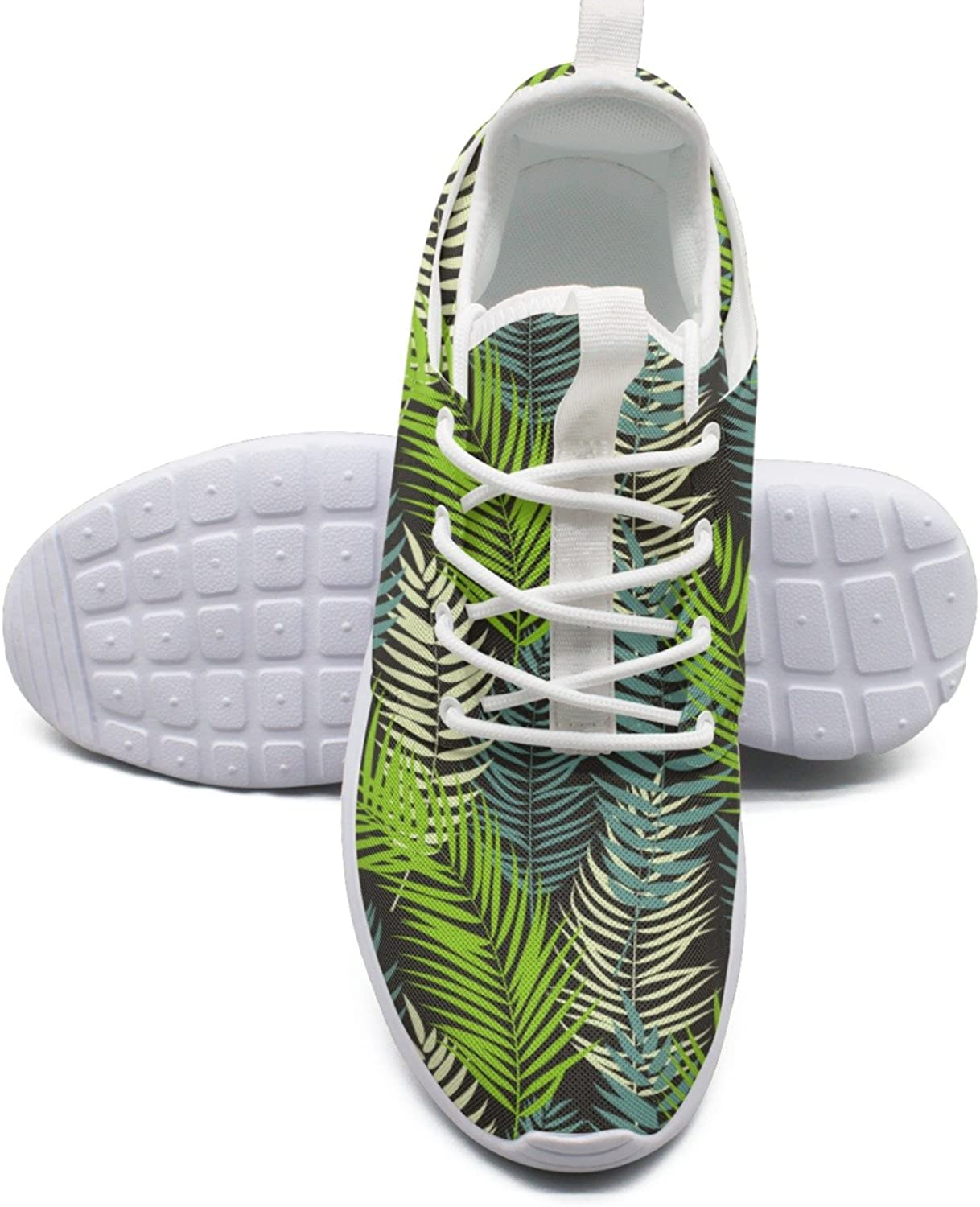 Beautifil Palm Tree Leaf Silhouette Running shoes Women Wide size 10
