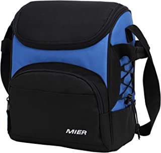 MIER 16 Can Insulated Lunch Box Bag for Women Men Large Leakproof Soft Cooler Bag, Blue