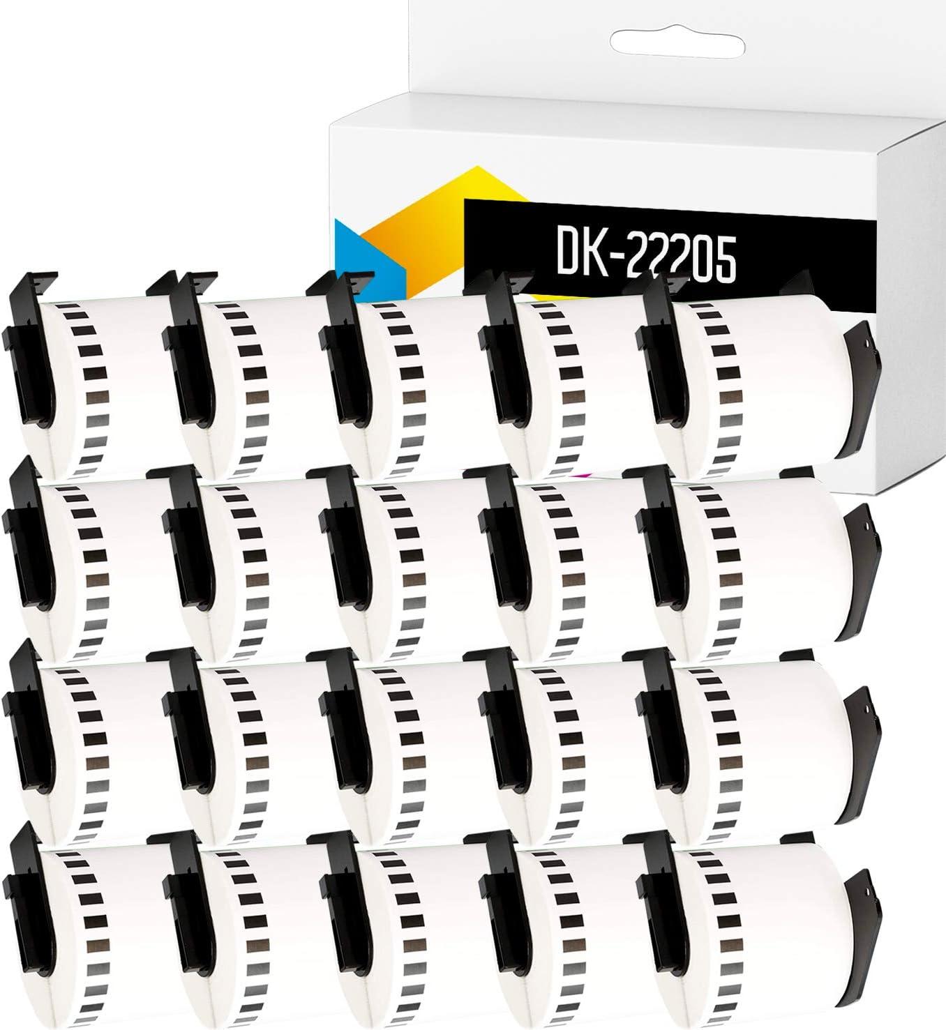 Cinta Compatible para Impresoras Brother P-Touch QL-500 QL-570 QL-700 QL-720NW QL-800 QL-810W QL-820NWB QL-1050 QL-1100 QL-1110NWB 1 62mm x 30.48m TONERPACK 1 Etiqueta Continua DK22205