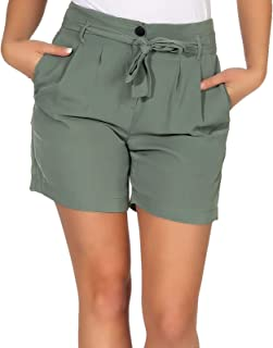 VERO MODA Damen Paperbag Shorts Selina Kurze Hose mit Gürtel