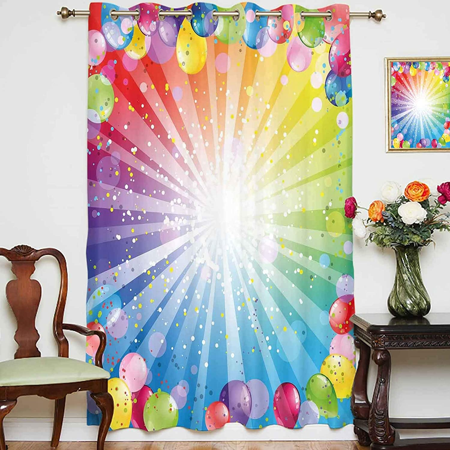 oobon Blackout List price Curtains Panels Festive Backdrop Striped Bal with Very popular