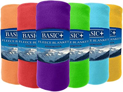 cb4eff8b28 Basic Plus Wholesale Case Packed Fleece Throw Blankets   Decorative  Furniture Covers Bulk of 24 by