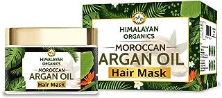 Himalayan Organics Moroccan Argan Oil Hair Mask with Bhringraj | No Parabens & Sulphate - 200ml