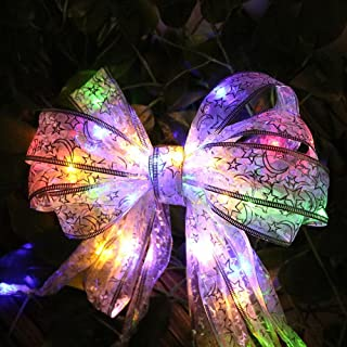 Velidy Lace Ribbon String Lights,40leds 13ft Beauty Colorful Battery Powered Copper Wire Fairy Night Lighting for Xmas Tree Home Party Gift Box Wedding Dorm Bedroom Decoration