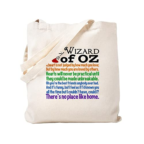 CafePress - Wizard Of Oz Quotes - Natural Canvas Tote Bag, Cloth Shopping Bag