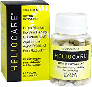 Heliocare Skin Care Dietary Supplement: 240mg Polypodium Leucotomos Extract Pills - All Natural, Antioxidant Rich Formula ...