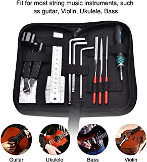 Guitar Repairing Maintenance Cleaning Tool Ki with Portable Bag for Guitar Ukulele Bass Mandolin