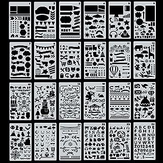 描画テンプレート スクラップブッキング テンプレート DIYアルバム 絵図 手帳用に 24枚セット