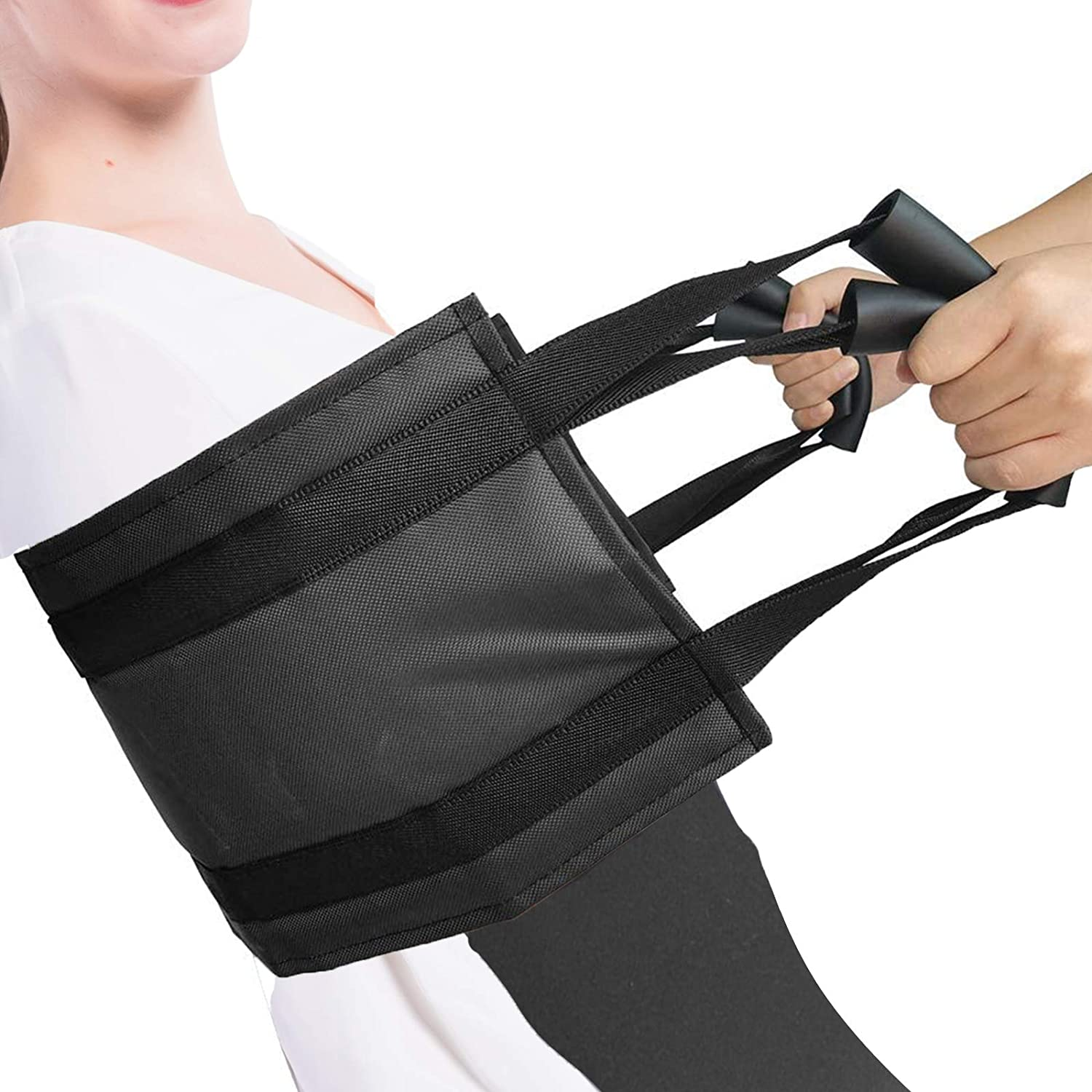 Gait Belt Elderly Assistance Product for Patient Lift Aid 39'' Thicken Transfer Sling with Sponge Grip Handles Seniors Home Living Care on The Bed and Chair