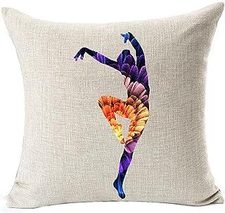 Fantastic Flower Fireworks Shadow Design Elegant Beautiful Ballet Dancer Dance Posture Cotton Linen Throw Pillow Case Cush...