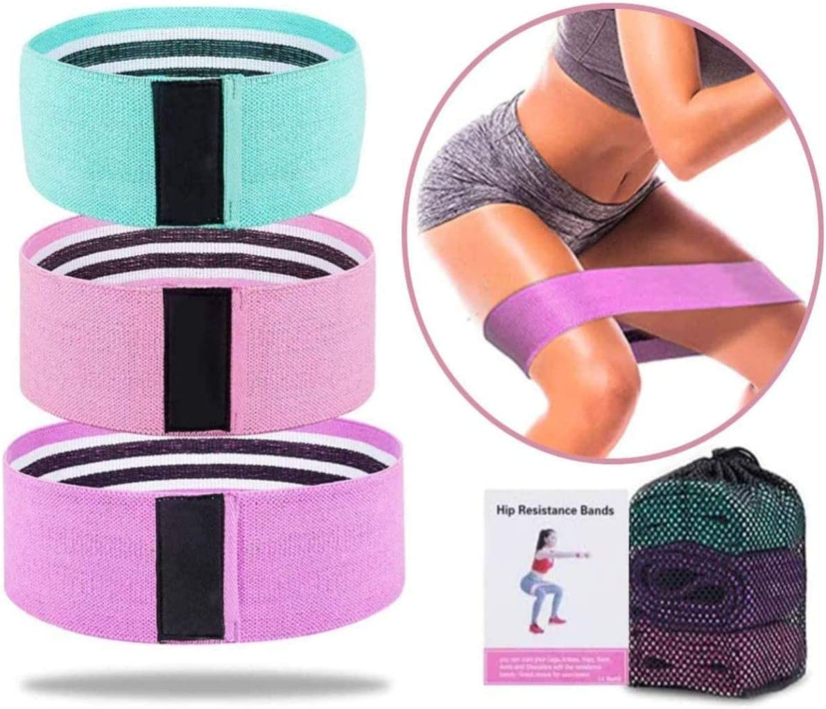 EZTECHO Booty Excellence Bands Set of 3 Legs Resistance for Max 78% OFF Butt and