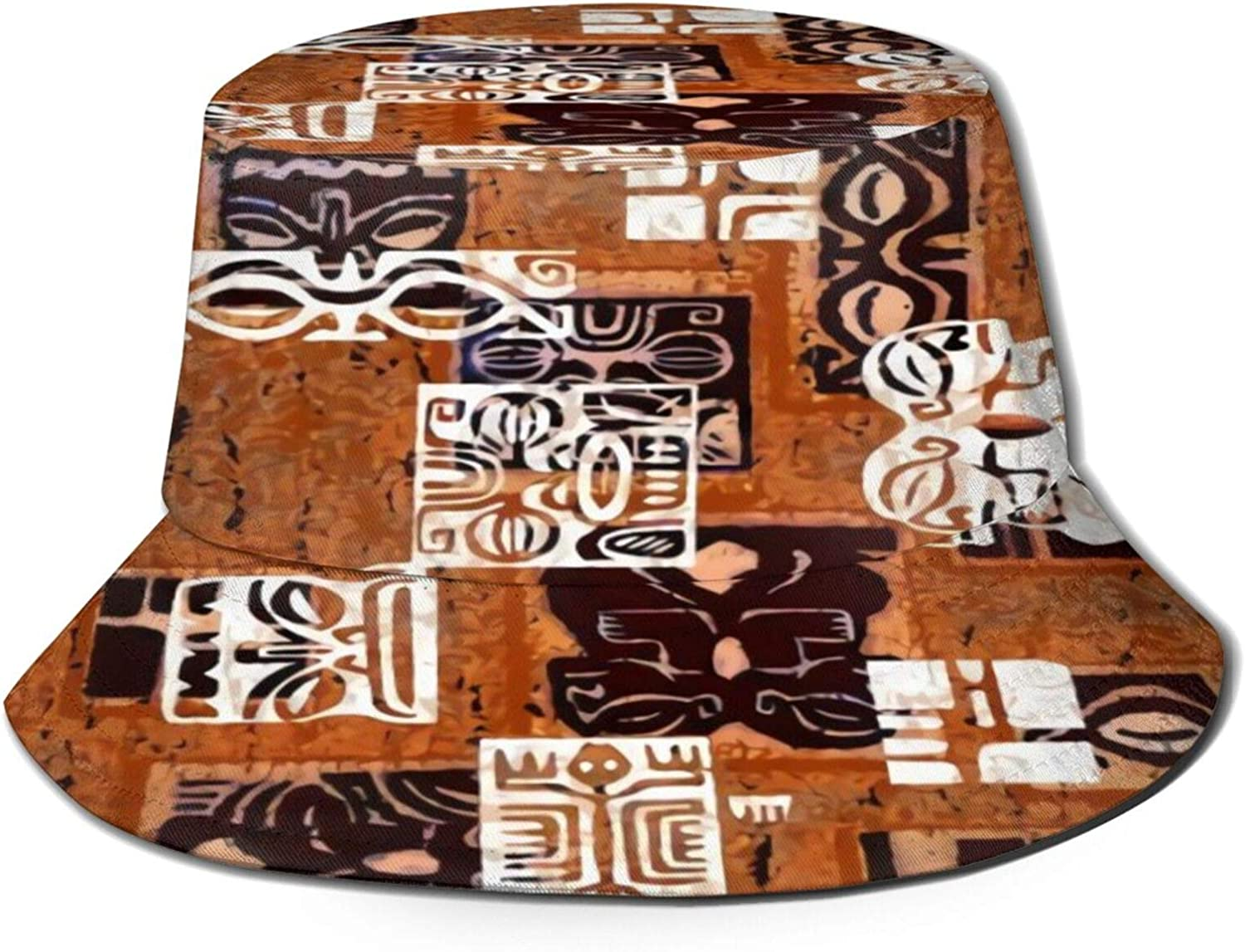 Tahitian Tikis 4B Bucket Hat Cheap mail order sales Sun Fish Summer Unisex Packable Outlet ☆ Free Shipping