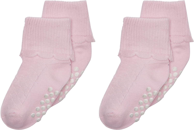 Jefferies Socks Baby Girl's Non-Skid Scalloped Turncuff 6-Pack (Infant/Toddler)
